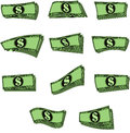 Vector notes money in different forms Royalty Free Stock Photo