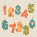 Vector number candles Royalty Free Stock Photos
