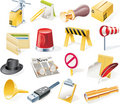 Vector objects icons set. Part 12 Royalty Free Stock Photos