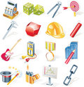 Vector objects icons set. Part 13 Royalty Free Stock Image