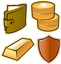 Vector objects for money and security Royalty Free Stock Photo