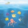 Vector ocean underwater illustration Stock Photography