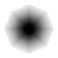 Vector Octagon halftone geometric shapes, Dot design abstract background Art Royalty Free Stock Photo