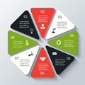 Vector octagon infographic.
