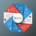 Vector octagon infographic. Royalty Free Stock Photo