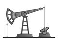 Vector oil pump pumpjack isolated on white background Stock Photos