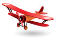 Vector old fashion biplane Royalty Free Stock Photo