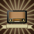 Vector old radio Royalty Free Stock Image