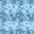 Vector ongoing pattern with green gears. Creative geometric background wheels.