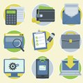 Vector online business icons in flat style and illustrations modern Stock Photography
