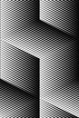 Vector op art pattern. Optical cube illusion abstract background Royalty Free Stock Photo