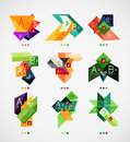 Vector option banners collection can be used as infographic template business card design abstract geometric symbols multipurpose Stock Image