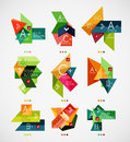 Vector option banners collection can be used as infographic template business card design abstract geometric symbols multipurpose Royalty Free Stock Photography