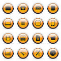 Vector orange buttons Royalty Free Stock Photo