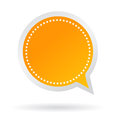 Vector orange speech sticker Royalty Free Stock Image