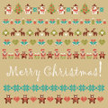 Vector ornament collection of christmas items Royalty Free Stock Photo