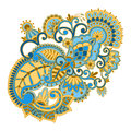 Vector ornament illustration with vintage pattern for print embroidery Royalty Free Stock Photos