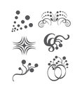 Vector ornament set easy to edit perfect for invitations or announcements Stock Photos