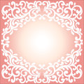 Vector ornament in Victorian style. Ornate baroque element for d Royalty Free Stock Photo