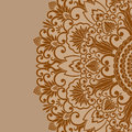 Vector ornamental background illustration with vintage floral ornament and place for text Royalty Free Stock Images