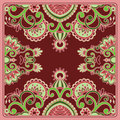 Vector ornamental background vintage pattern for print embroidery you can use this pattern for carpet shawl pillow cushion Stock Images