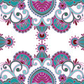 Vector ornamental background vintage pattern for print embroidery you can use this pattern for carpet shawl pillow cushion Stock Image