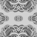 Vector ornamental background vintage pattern for print embroidery you can use this pattern for carpet shawl pillow cushion Royalty Free Stock Photos