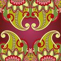 Vector ornamental background vintage pattern for print embroidery you can use this pattern for carpet shawl pillow cushion Royalty Free Stock Images