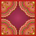 Vector ornamental background vintage pattern for print embroidery you can use this pattern for carpet shawl pillow cushion Stock Photography
