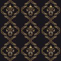 Vector ornamental background vintage seamless pattern for print embroidery Stock Images