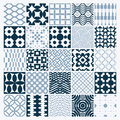 Vector ornamental black and white seamless backdrops set, geometric patterns