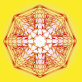 Vector ornamental esoteric spring solar lotus Royalty Free Stock Image