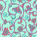 Vector ornamental seamless background vintage pattern for print embroidery Royalty Free Stock Photo