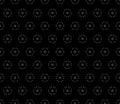 Vector ornamental seamless pattern, dark minimalist background