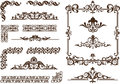 Vector ornaments frames corners borders vintage with delicate swirls in art nouveau for decoration and design works with floral Royalty Free Stock Photo