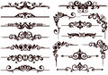Vector ornaments frames, corners, borders