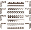 Vector ornaments frames, corners, borders Royalty Free Stock Photo