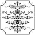 Vector ornaments set Royalty Free Stock Photography