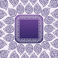 Vector Ornate blue frame and background Stock Photography