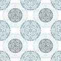 Vector ornate floral seamless texture pattern round decor Royalty Free Stock Photo