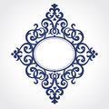 Vector ornate frame in Victorian style. Royalty Free Stock Photo