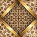 Vector ornate vintage background beige brown gold Royalty Free Stock Image