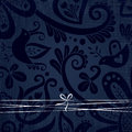 Vector ornate wallpaper with discreet floral ornaments. Royalty Free Stock Images