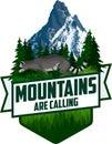 Vector Outdoor Adventure Inspiring Motivation Emblem logo illustration with racoon Royalty Free Stock Photo