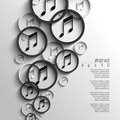 Vector overlapping music note background eps Stock Photo