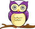 Vector Owl illustration Royalty Free Stock Image