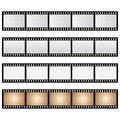 Vector pack film strip isolated and old Royalty Free Stock Photo