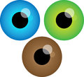 Vector pack three eyes illustration Royalty Free Stock Images