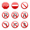 Vector pack traffic sign isolated Royalty Free Stock Photography