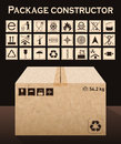 Vector package constructor with box Royalty Free Stock Photo